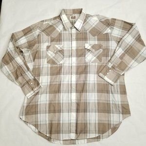 Ely Cattleman Pearl Snap Western Shirt